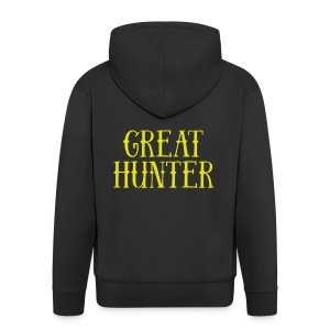 great hunter - Rozpinana bluza męska z kapturem Premium
