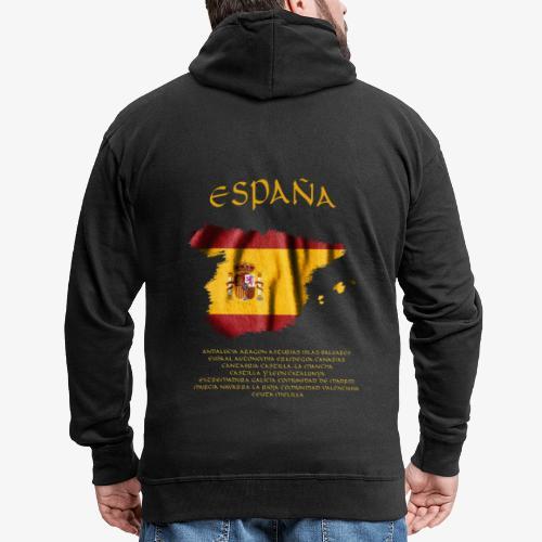 Spanische Flagge - Männer Premium Kapuzenjacke