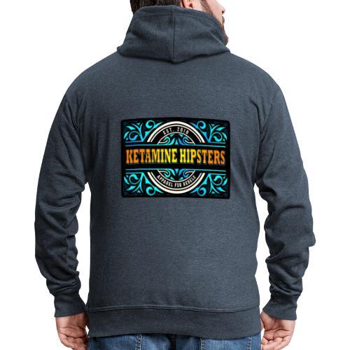 Black Vintage - KETAMINE HIPSTERS Apparel - Men's Premium Hooded Jacket