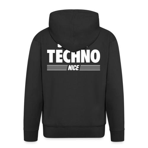 Just techno - Men's Premium Hooded Jacket