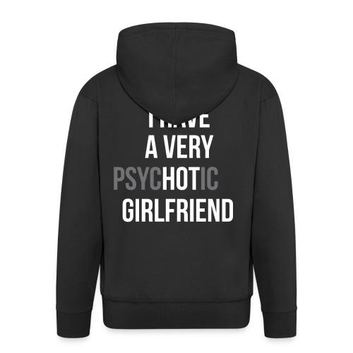 """Ich habe eine sehr """"HOT"""" Freundin - Männer Premium Kapuzenjacke"""
