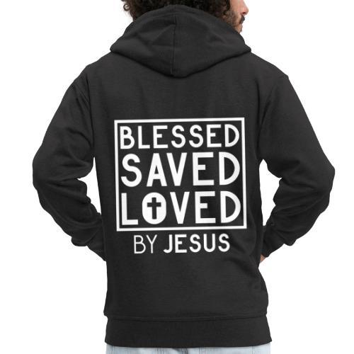 Blessed Saved Loved by Jesus - Christlich - Männer Premium Kapuzenjacke
