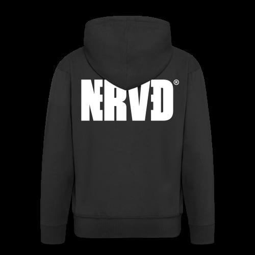 Official Nerved® Logo Black - Men's Premium Hooded Jacket