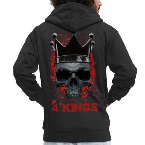 4 Kings Skull Design - Männer Premium Kapuzenjacke