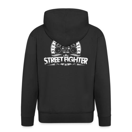 Street Fighter Band (White) - Männer Premium Kapuzenjacke