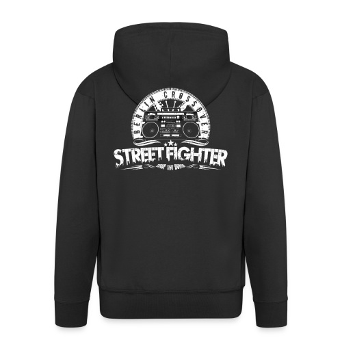 Street Fighter Band White - Men's Premium Hooded Jacket