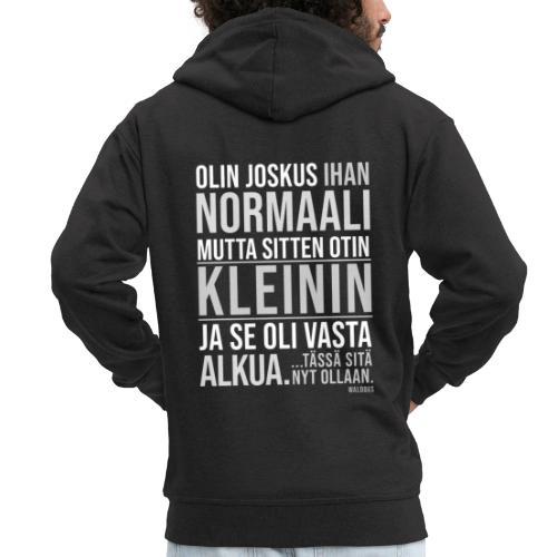 Vasta Alkua Kleini - Miesten premium vetoketjullinen huppari