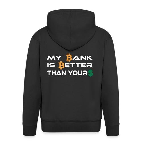 BITCOIN BANK - Männer Premium Kapuzenjacke