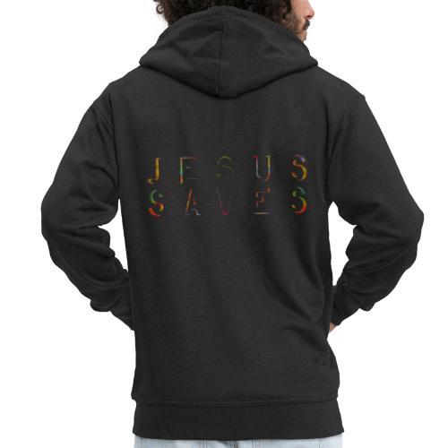 Jesus Saves Farbexplosion - Männer Premium Kapuzenjacke