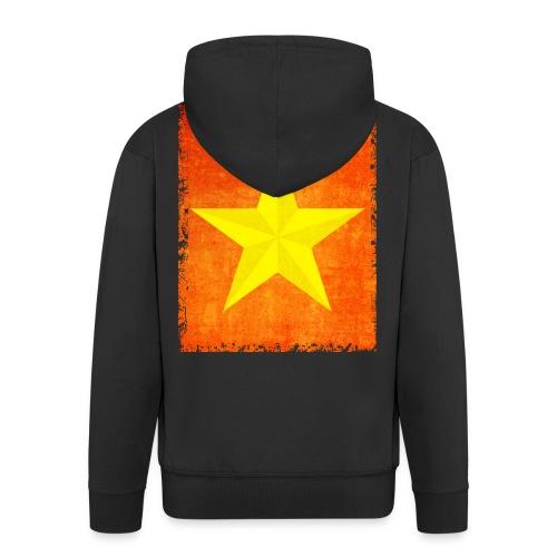 yellow amish barn star t-shirt design gift idea - Felpa con zip Premium da uomo
