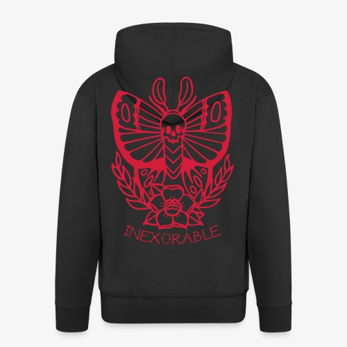 Traditional Tattoo Moth - Men's Premium Hooded Jacket