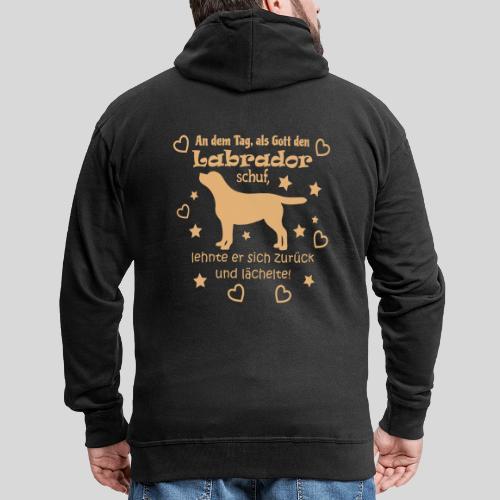 Gott schuf Labrador - Männer Premium Kapuzenjacke