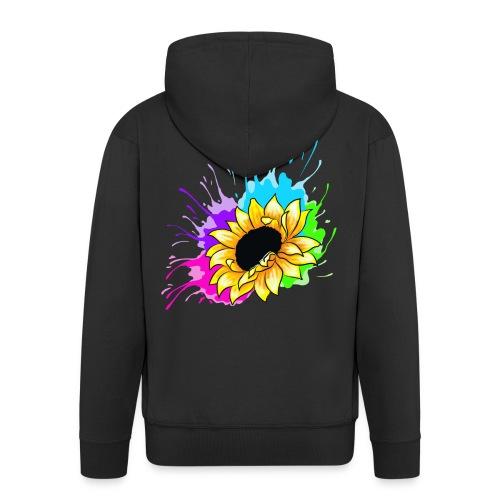 Sonnenblume Splash - Männer Premium Kapuzenjacke