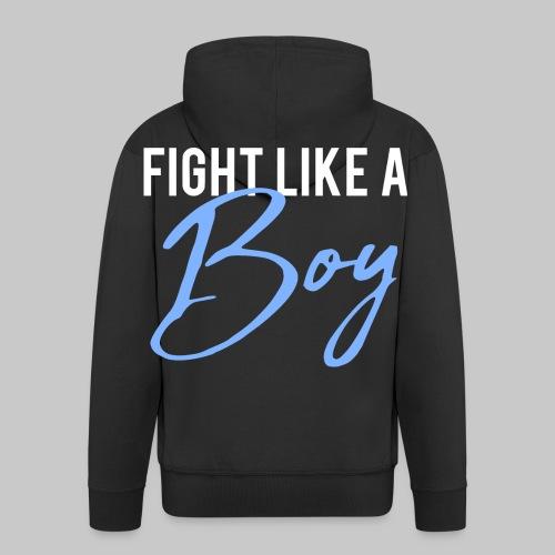2reborn Fight like a Boy Junge Menpower Hero Gym S - Männer Premium Kapuzenjacke