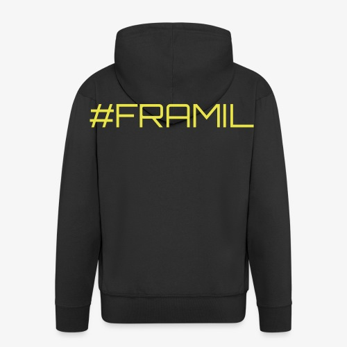 #framil - Miesten premium vetoketjullinen huppari
