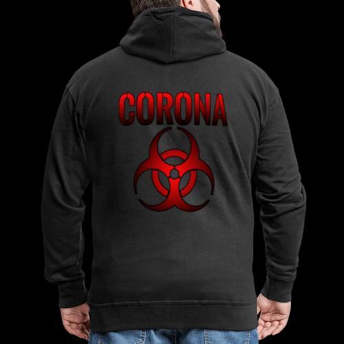 Corona Virus CORONA Pandemie - Männer Premium Kapuzenjacke