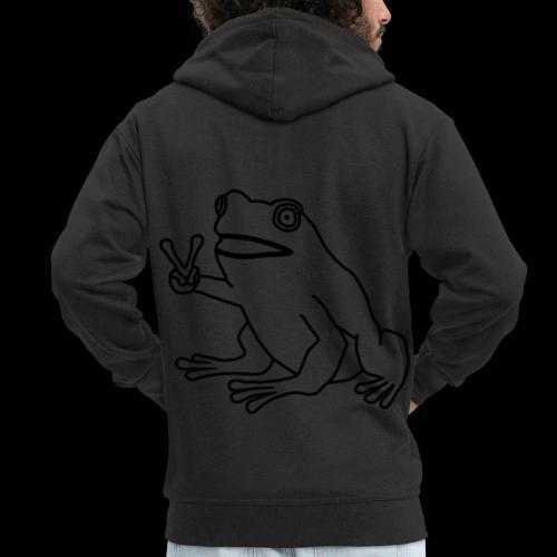 Funny Animal Frog Frosch - Männer Premium Kapuzenjacke