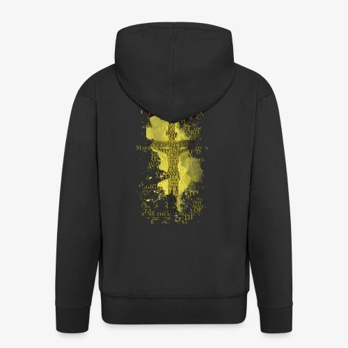 I believe / wierzę (yellow-żółty) - Rozpinana bluza męska z kapturem Premium