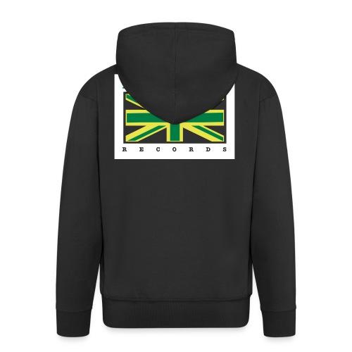 Illastate logo 3spots BlackTee - Men's Premium Hooded Jacket