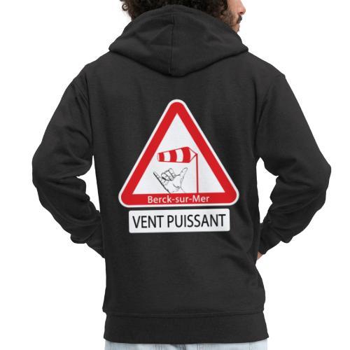 Berck-sur-mer: Vent puissant II - Veste à capuche Premium Homme