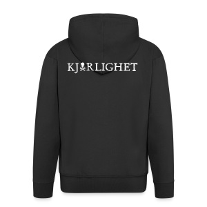 Kjærlighet (Love) | White text - Men's Premium Hooded Jacket