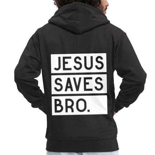 Jesus saves Bro - Männer Premium Kapuzenjacke