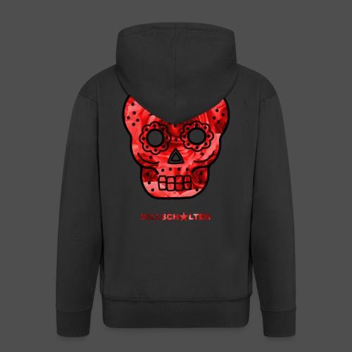Skull Roses - Rozpinana bluza męska z kapturem Premium