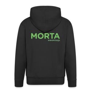 MORTA - Felpa con zip Premium da uomo