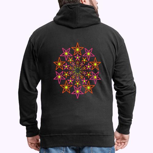 stella frattale 3 colori neon - Felpa con zip Premium da uomo