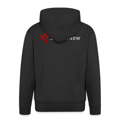 SportsNow-Logo mit weisser Schrift - Männer Premium Kapuzenjacke