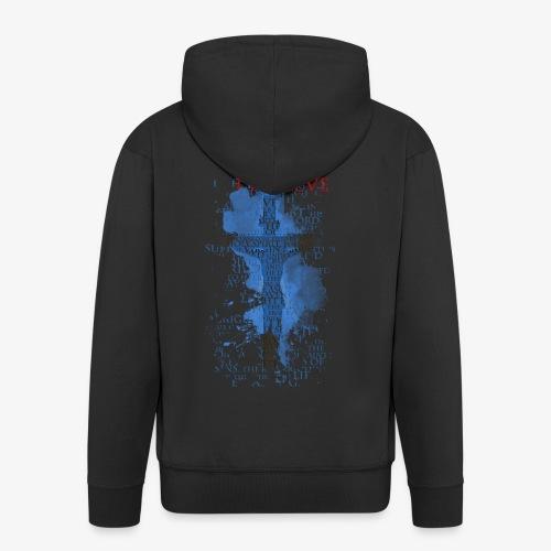 I believe / wierzę - Rozpinana bluza męska z kapturem Premium