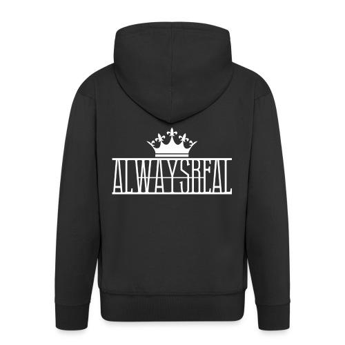AlwaysReal Weiss - Männer Premium Kapuzenjacke