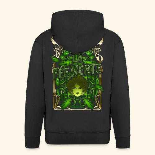 Absinth T Shirt Design La Fée Verte Art Nouveau - Männer Premium Kapuzenjacke