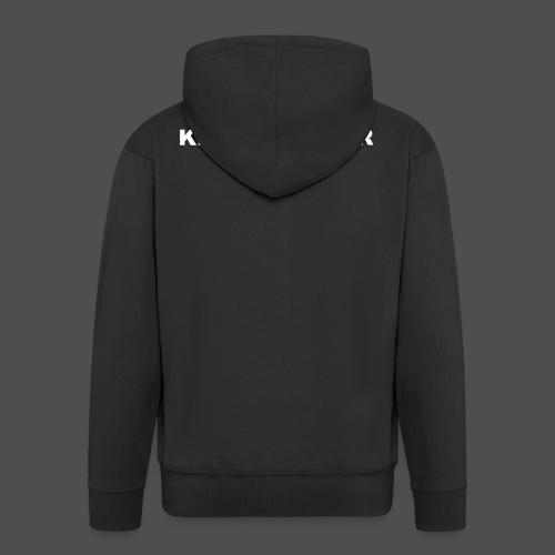 Napis KILLSCHALTER - Rozpinana bluza męska z kapturem Premium