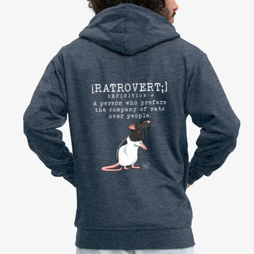 Ratrovert I - Miesten premium vetoketjullinen huppari