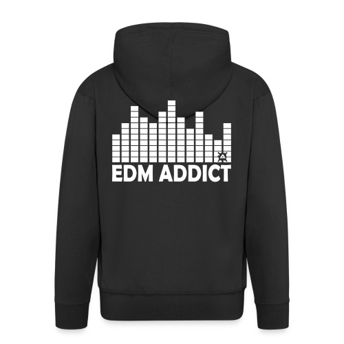 EDM addict White.png - Men's Premium Hooded Jacket