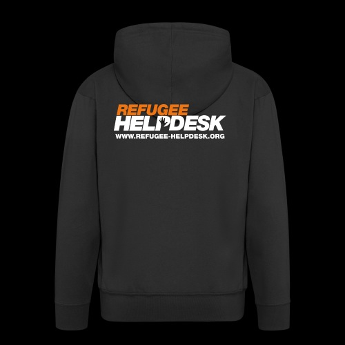 Refugee Helpdesk Logo (Bright) - Männer Premium Kapuzenjacke