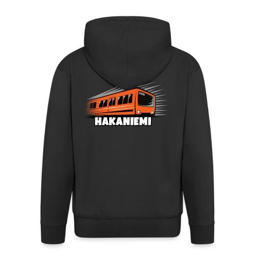 13- METRO HAKANIEMI - HELSINKI - LAHJATUOTTEET - Miesten premium vetoketjullinen huppari