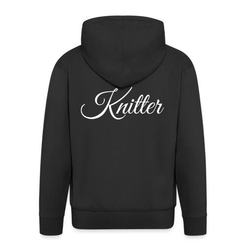 Knitter, white - Men's Premium Hooded Jacket