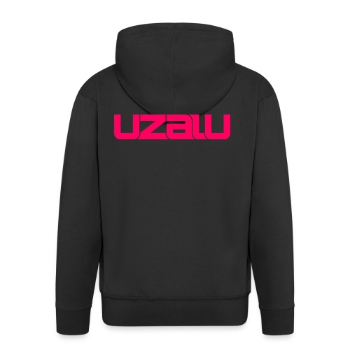 uzalu - Pink - Men's Premium Hooded Jacket