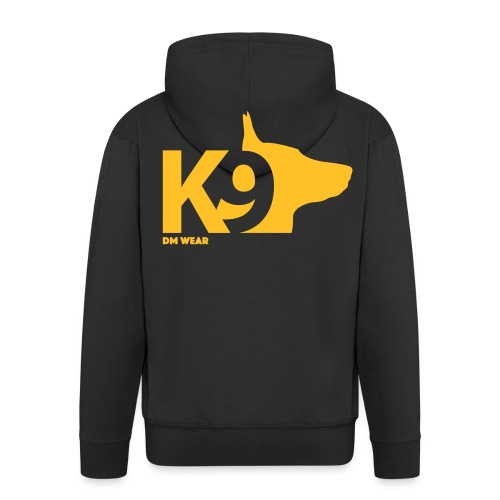 DM Wear K9 yellow big - Men's Premium Hooded Jacket
