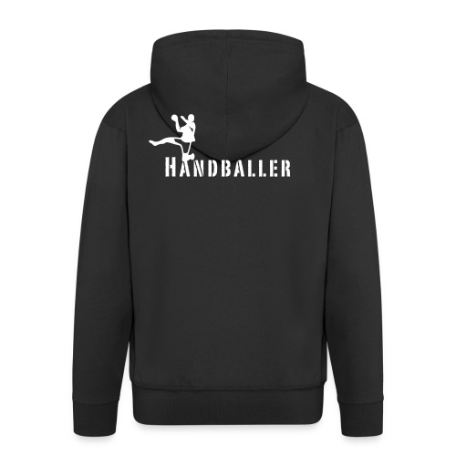 Handballer Schriftzug - Männer Premium Kapuzenjacke
