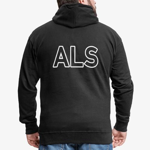 ALS_140%_Vektor_Outline_W - Männer Premium Kapuzenjacke