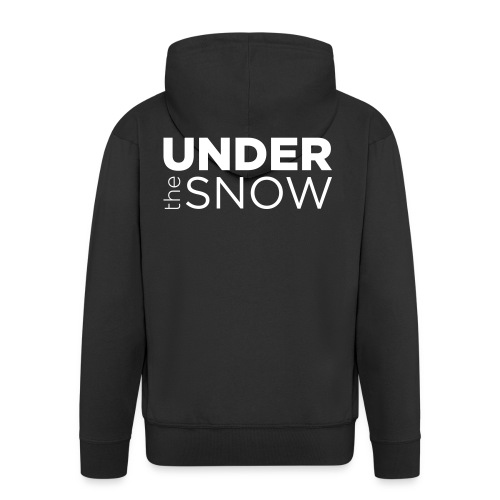 Logo Under The Snow White - Felpa con zip Premium da uomo