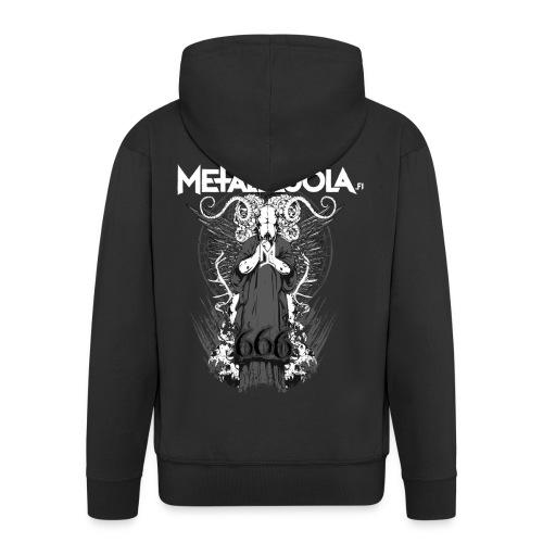 Metalliluola logo ja Demoniac 666 - Miesten premium vetoketjullinen huppari