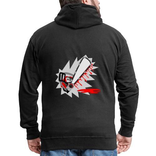 T shirt humeur tronçonneuse en sang votre texte FS - Veste à capuche Premium Homme