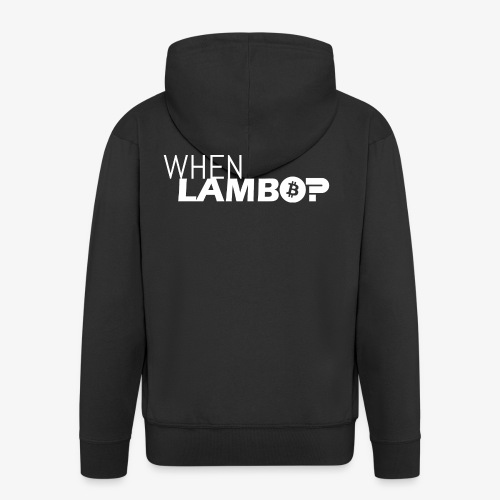 HODL-when lambo-w - Men's Premium Hooded Jacket