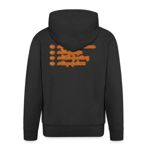 PumpkinSpiceRecipe - Felpa con zip Premium da uomo