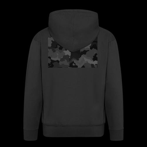 Camouflage-Black - Männer Premium Kapuzenjacke