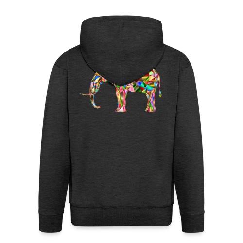 Gestandener Elefant - Männer Premium Kapuzenjacke